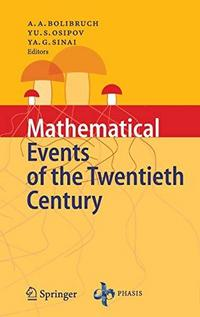 Mathematical Events of the Twentieth Century cover