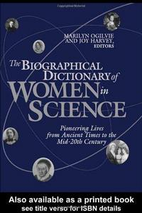 The Biographical Dictionary of Women in Science cover