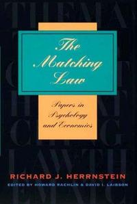 The Matching Law: Papers in Psychology and Economics cover