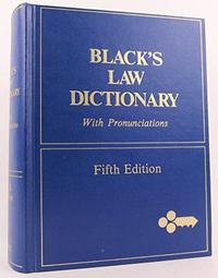 Black's Law Dictionary cover