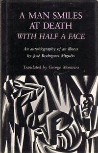 A man smiles at death with half a face cover