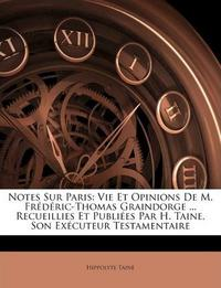 Notes Sur Paris cover