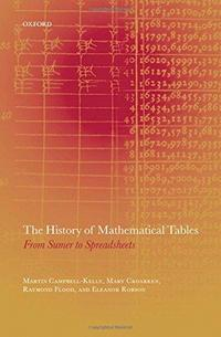 The History of Mathematical Tables cover