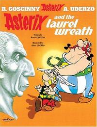 Asterix and the laurel wreath cover