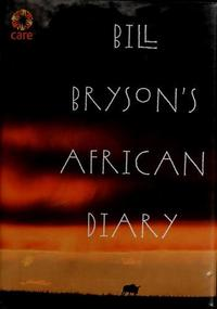 Bill Bryson's African Diary cover