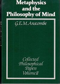 The collected philosophical papers of G.E.M. Anscombe cover