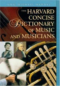 The Harvard Concise Dictionary of Music and Musicians cover