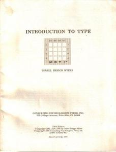 Introduction to type : a description of the theory and applications of the Myers-Briggs Type Indicator cover