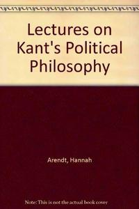 Lectures on Kant's Political Philosophy cover
