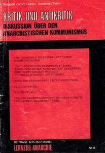 Kritik und Antikritik cover