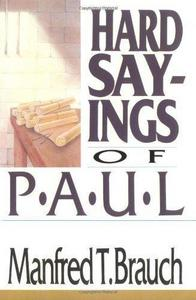 Hard Sayings of Paul cover