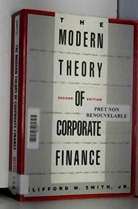 The Modern Theory of Corporate Finance