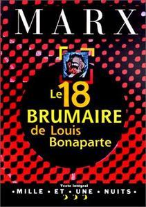 Le 18 Brumaire de Louis Bonaparte cover