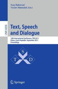 Text, Speech and Dialogue cover