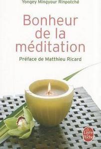 Bonheur de la méditation cover