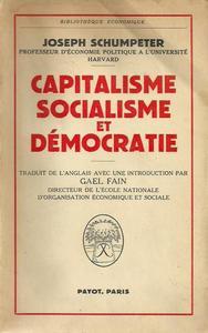 Capitalisme, Socialisme et Démocratie cover