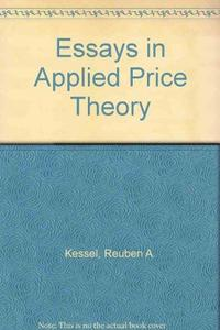 Essays in applied price theory