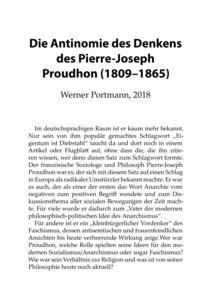 Die Antinomie des Denkens des Pierre-Joseph Proudhon cover