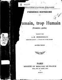 Human, All Too Human cover