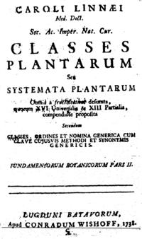 Classes plantarum cover