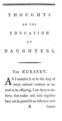 Thoughts on the Education of Daughters cover