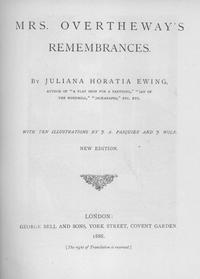 Mrs. Overtheway's Remembrances cover