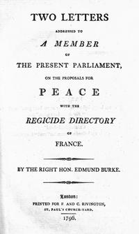 Letters on a Regicide Peace cover