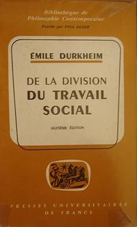 The Division of Labour in Society cover