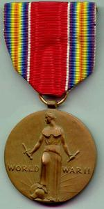 World War II Victory Medal cover
