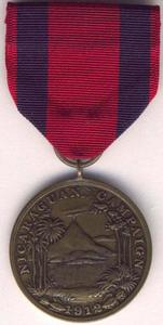 Nicaraguan Campaign Medal cover