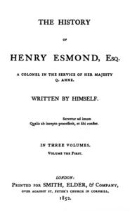 The History of Henry Esmond cover